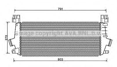 OLA4549 Интеркулер OPEL ASTRA 1.4T/1.6T 09-