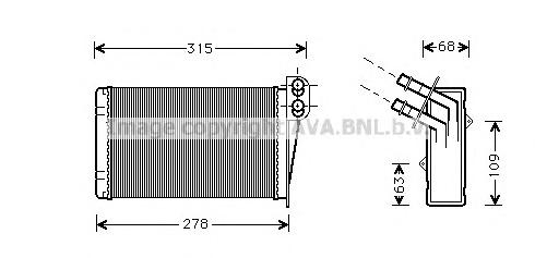 RT6228 Радиатор отопителя RENAULT CLIO 1.0-3.0/1.5D/1.9D 99-05
