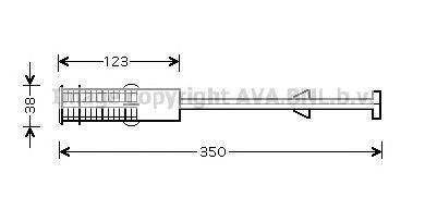 PED264 Осушитель кондиционера CITROEN: BERLINGO (MF) 1.4 HYBRID/1.6 HDI 110 96-, BERLINGO ФУРГОН (M) 2.0 HDI 90 4WD (MB:RHY, MCR