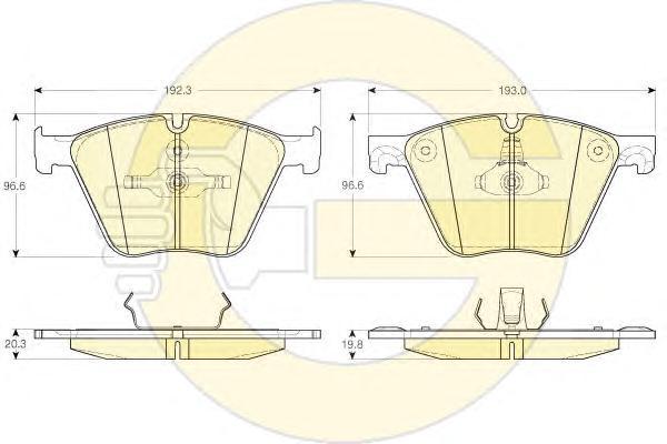 6119642 Колодки тормозные BMW X5(E70) 10-/X6(E71) 08- передние