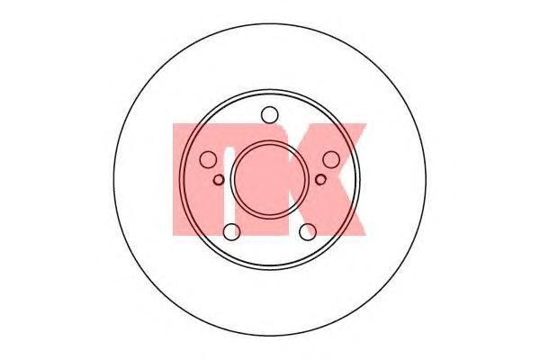 204596 Диск тормозной TOYOTA AVENSIS 01-/CAMRY 91-01/PREVIA 00- передний вент.D=275мм.