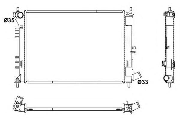 53171 Радиатор HY/Kia Elantra/i30/Cee`D/Soul