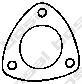 256438 Прокладка приемной трубы OPEL 1.0-1.8/1.7CDTi 98-