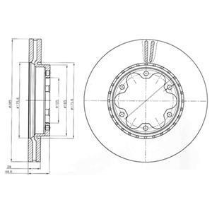 BG4210 Диск тормозной TOYOTA HIACE 05- передний вент.D=285мм
