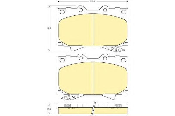6131979 Колодки тормозные TOYOTA LAND CRUISER 4.2D 9098/4.2D/4.7 98 передние
