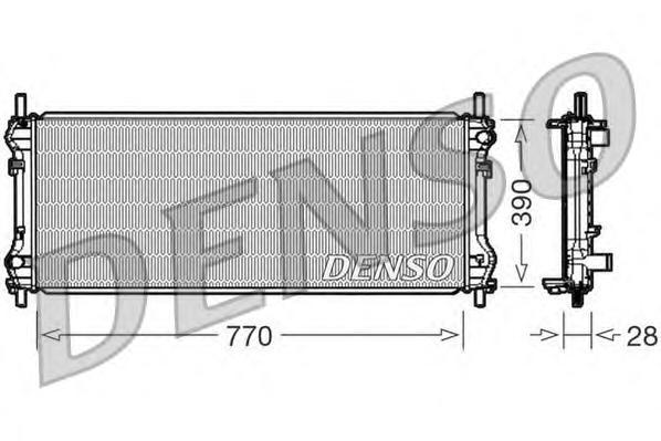 DRM10103 Радиатор системы охлаждения FORD: TRANSIT c бортовой платформой/ходовая часть 2.3 16V/2.4 TDCi 06 - , TRANSIT c бортово