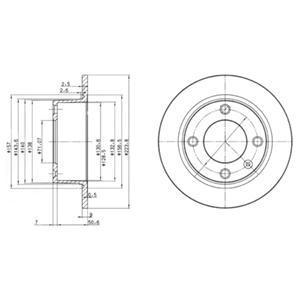 BG2691 Тормозной диск 2шт в упаковке
