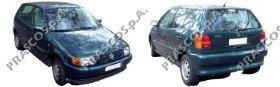 VW0161672 Усилитель заднего бампера / VW Polo 94~99