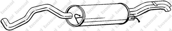 281199 Средний глушитель выхлопных газов
