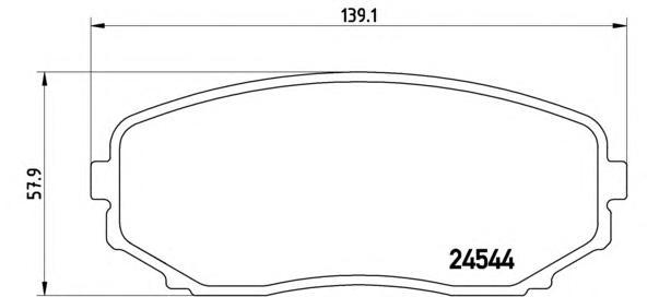P49040 Колодки тормозные MAZDA CX-7/CX-9 07- передние