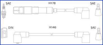 134755 Комплект проводов в/в Mercedes 2,0-2,3 M102