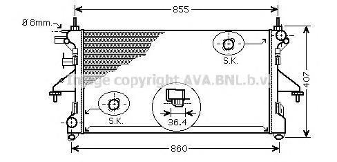 PE2305 Радиатор FIAT DUCATO 2.2HDi +A/C 06-