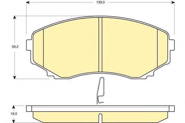 6132559 Колодки тормозные MAZDA MPV 99- передние с инд.износа
