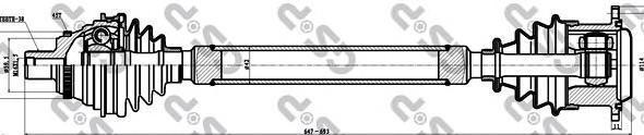 203051 Привод в сборе AUDI 100/A6 I 2.5TD-2.8 90-97 прав. МКПП +ABS