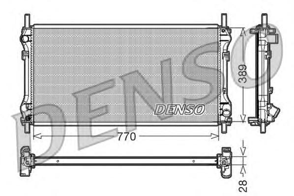 DRM10104 Радиатор системы охлаждения FORD: TRANSIT c бортовой платформой/ходовая часть (FM , FN ) 2.0 DI (FE, FF)/2.0 TDCi (FE,