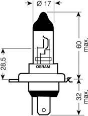 64193SV2 Лампа H4 12V-60/55W (P43t) SILVERSTAR 2.0
