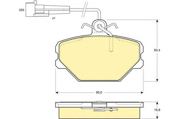 6108331 Колодки тормозные FIAT PANDA/TEMPRA/TIPO/UNO 1.0-1.6 86-04 передние