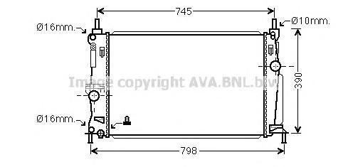 MZ2254 Радиатор MAZDA 3 1.6 A/T 09-