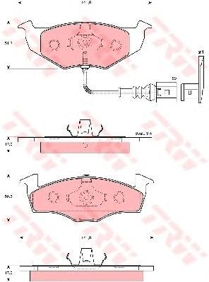 GDB1586 Колодки тормозные SKODA FABIA/VOLKSWAGEN POLO 99- передние