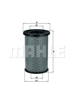 LX2968 Фильтр воздушный NISSAN PICK UP 2.5 TDI 02-