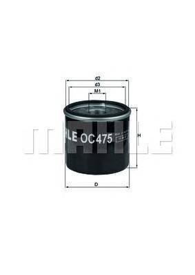 OC475 Фильтр масляный RENAULT TWINGO/CLIO 1.2/NISSAN KUBISTAR 1.2