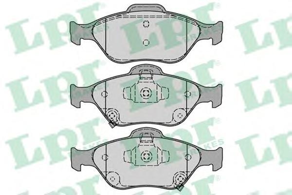 05P1283 Колодки тормозные TOYOTA YARIS 1.0-1.4 06- передние