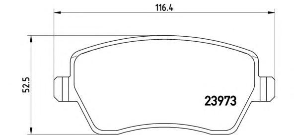 P68033 Колодки тормозные NISSAN MICRA 03/RENAULT CLIO 05передние