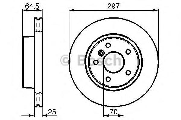 0986478483 Диск тормозной передн LAND ROVER: RANGE ROVER II (LP) 2.5 TD 4x4/3.9 4x4/4.0 4x4/4.6 4x4 94-02