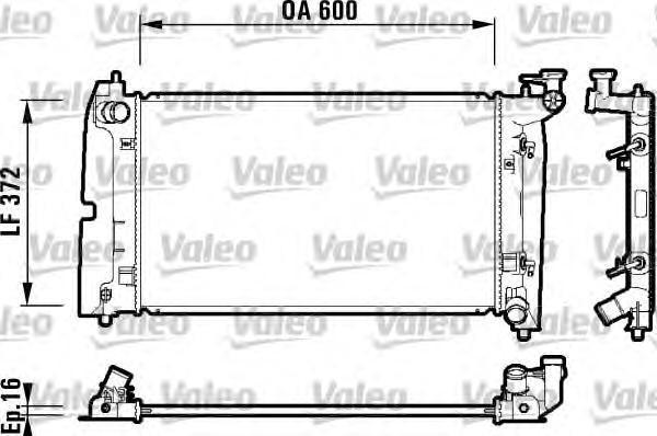 734200 Радиатор TOYOTA: Corolla (120) (2001&gt