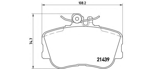 P06017 Колодки тормозные MERCEDES W202 93-00 передние