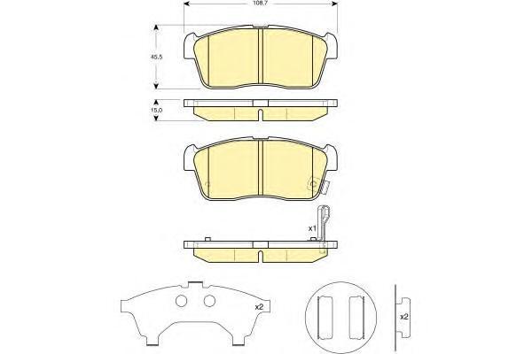 6132769 Колодки тормозные SUZUKI IGNIS 00/ALTO 02- с индикат.износа передние