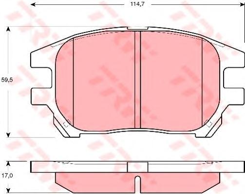GDB3379 Колодки тормозные TOYOTA LEXUS RX300 00-03 передние