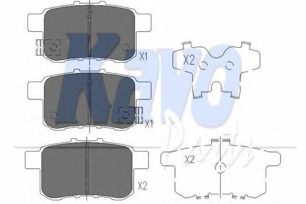 KBP2044 Колодки тормозные HONDA ACCORD 2.0-2.4 МКПП 08- задние