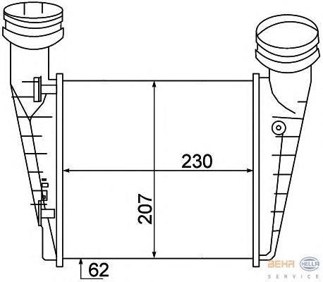 8ML376776631 Интеркулер SKODA: SUPERB (3U4) 1.9 TDI/2.0 TDI 02 - 08  VW: PASSAT (3B2) 1.9 TDI 96 - 00 , PASSAT (3B3) 1.9 TDI/1.9