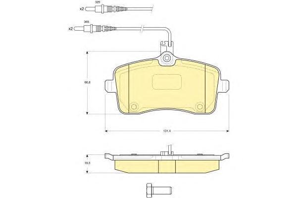 6115941 Колодки тормозные PEUGEOT 407 04 передние с датчиком