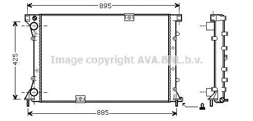 RT2313 Радиатор RENAULT TRAFIC II 2.5D 01-