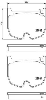 P50062 Колодки тормозные MERCEDES W220/221/C215/C219/R230 AMG 01- передние