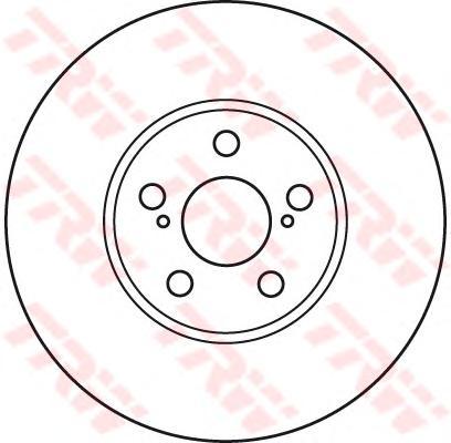 DF4871 Диск тормозной передн TOYOTA: AVENSIS Station Wagon (_T22_) 97-03