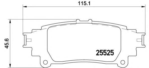 P83132 Колодки тормозные LEXUS RX 350/450h 09- задние