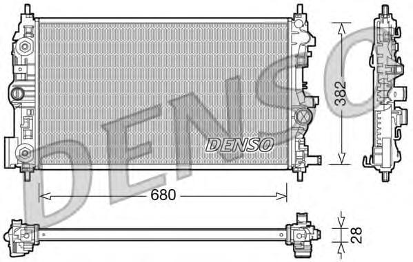 DRM20079 Радиатор системы охлаждения OPEL: ASTRA J 2.0 CDTI 09-, ASTRA SPORTS TOURER (J) 2.0 CDTI 10-, CASCADA (W13) 2.0 CDTI 13