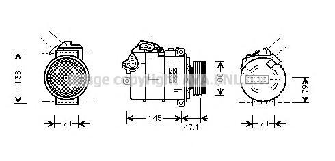 BWAK306 Компрессор кондиционера BMW E60/E65 2.2-3.0/2.5D/3.0D 04-