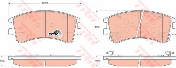GDB3310 Колодки тормозные MAZDA 6 02с индикат.износа передние