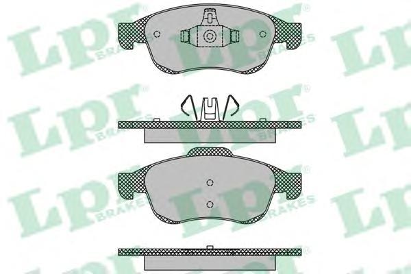 05P1493 Колодки тормозные RENAULT DUSTER 10-/FLUENCE 10-/MEGANE III 08- передние