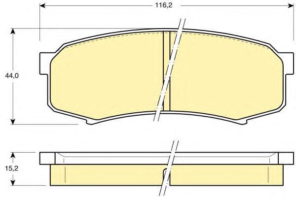 6111829 Колодки тормозные TOYOTA LC 80/90/120 90/MITSUBISHI PAJERO 3.8/3.2D 06 задние