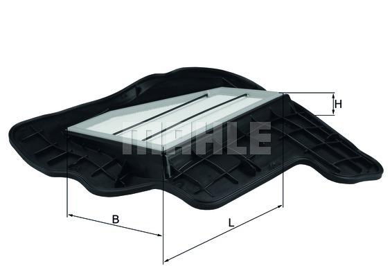 LX16855 Фильтр воздушный BMW F07/10/12/01/02/E70/71 5.0 1-4 цил.