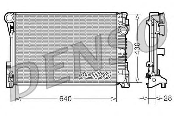 DRM17110 Радиатор MB W204/W212 1.8-3.5/2.0-2.2D M/T 07-