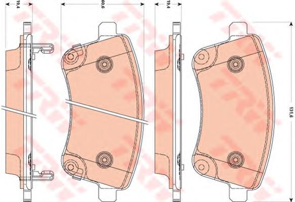 GDB3509 Колодки тормозные KIA VENGA 10- передние