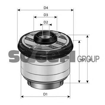 C823 Фильтр топливный FORD: RANGER 2.2TDCI/3.2TDCI 11-