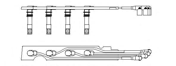 968g100 Комплект проводов зажигания