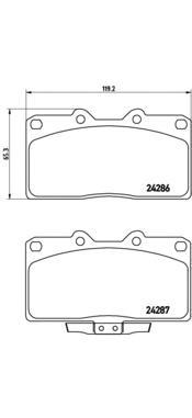 p54019 Комплект тормозных колодок, дисковый тормоз